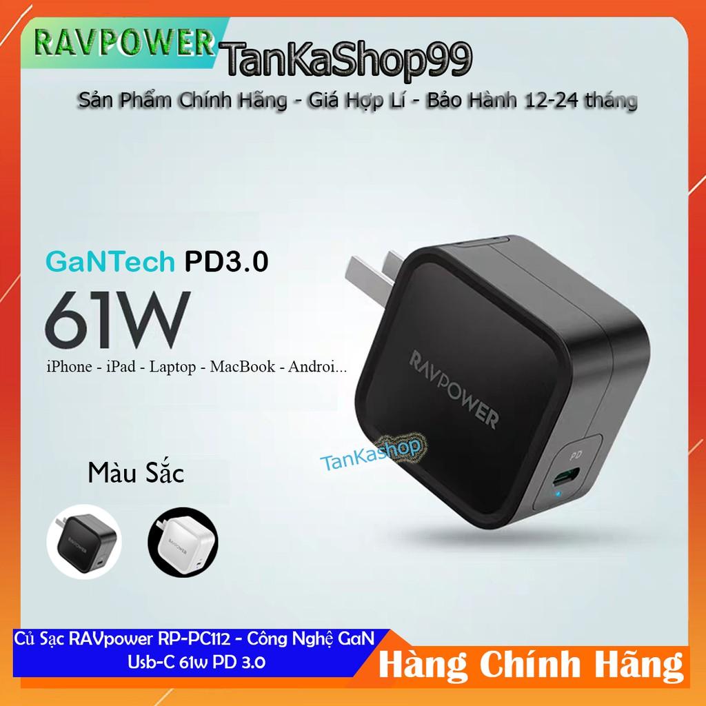 Củ Sạc Ravpower RP-PC112 - 1cổng Usb-c 61W PD 3.0 - Công Nghệ GaN