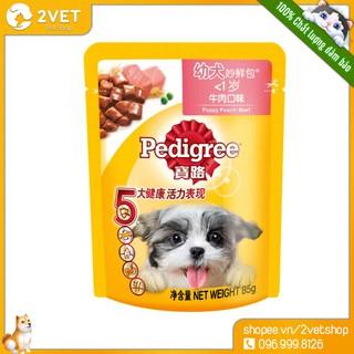 [Thức Ăn Cho Cún] PEDIGREE 80g - Thức Ăn Pate Cho Chó Đồ Ăn Vô Cùng Hấp Dẫn Cho Thú Cưng - Thương Hiệu Nổi Tiếng thumbnail