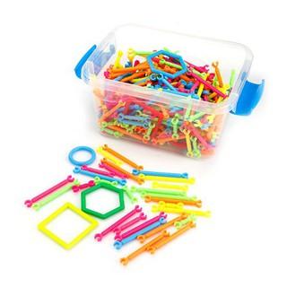 [HOT SALE] đồ chơi cho bé – combo 4 Bộ đồ chơi lắp ghép xếp que thông minh – CHẤT LƯỢNG CAO