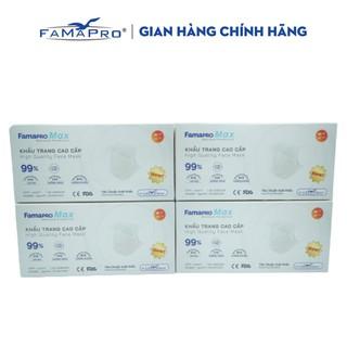 Combo 4 hộp khẩu trang y tế cao cấp kháng khuẩn 4 lớp Famapro max màu trắng (40 cái hộp ) thumbnail