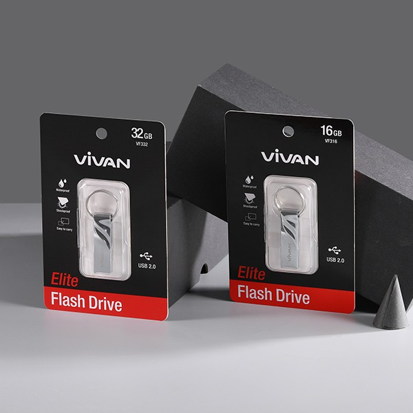 Thiết Bị Lưu Trữ USB 16GB/32GB VIVAN VF316/332 Flash Drive Đầu Kim Loại Siêu Nhẹ Kết Nối Nhanh - BẢO HÀNH 12 THÁNG