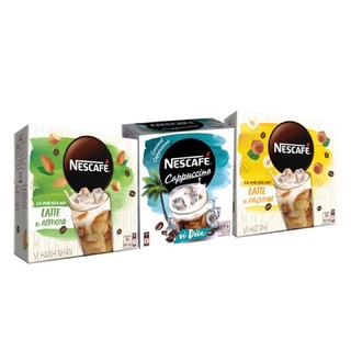 Nescafe - Hộp Cafe Hoà Tan Nécafe Cappuccino Vị Dừa /  Latte Sữa Hạt Vị Hạt Phỉ / Latte Sữa Hạt Vị Hạnh Nhận