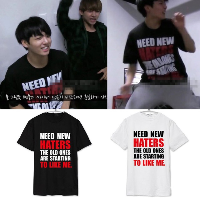 [T-SHIRT] NEED NEW HATERS - JUNGKOOK BTS