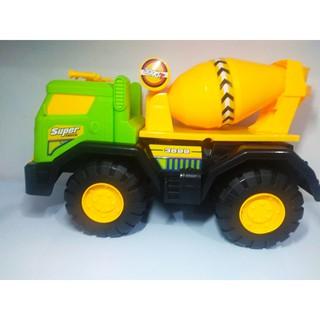 Xe đồ chơi Super Truck, xe trộn bê tông, màu sắc bắt mắt, chất liệu an toàn, độ bền cao, loại cỡ lớn.