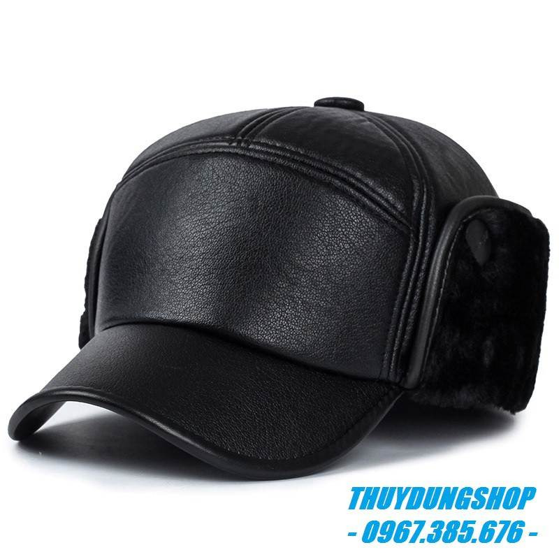 Mũ da nam trung niên quý phái MNA14