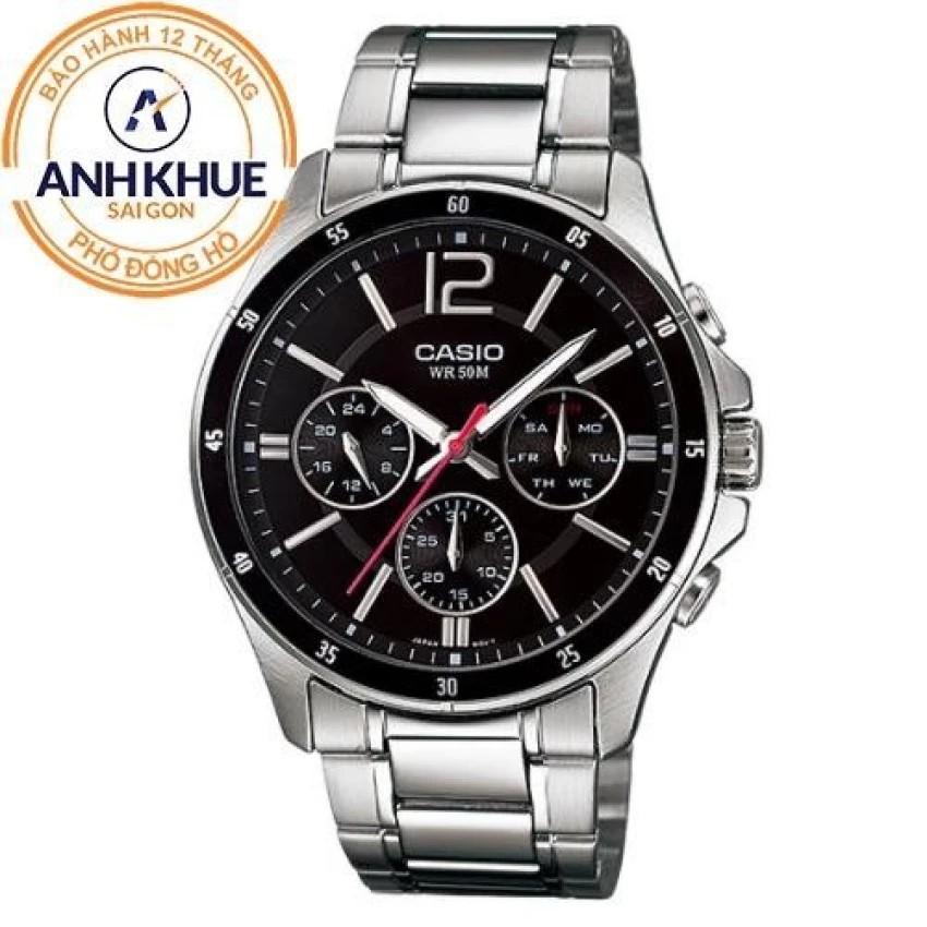 Đồng hồ nam dây kim loại Casio Anh Khuê MTP-1374D-1AVDF