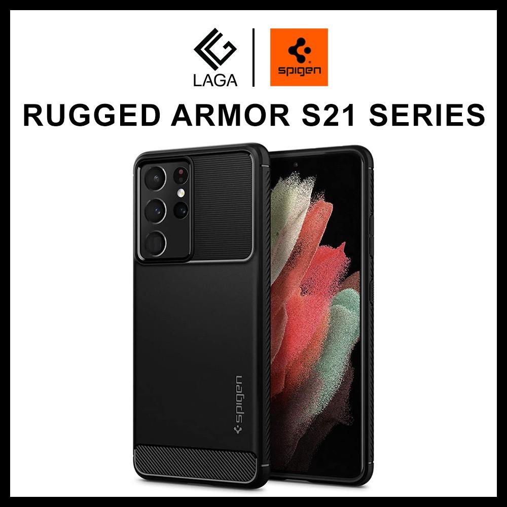 Ốp Lưng Spigen Rugged Armor Samsung Galaxy S21 Ultra / S21 Plus 5G - Chống Sốc Chuẩn Quân Đội Mỹ