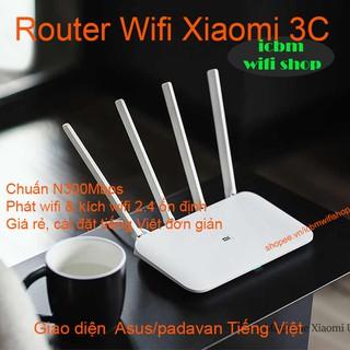 Phát wifi, kích sóng Xiaomi Mi 3C chuẩn N 300Mbps, Tiếng Việt Asus/padavan
