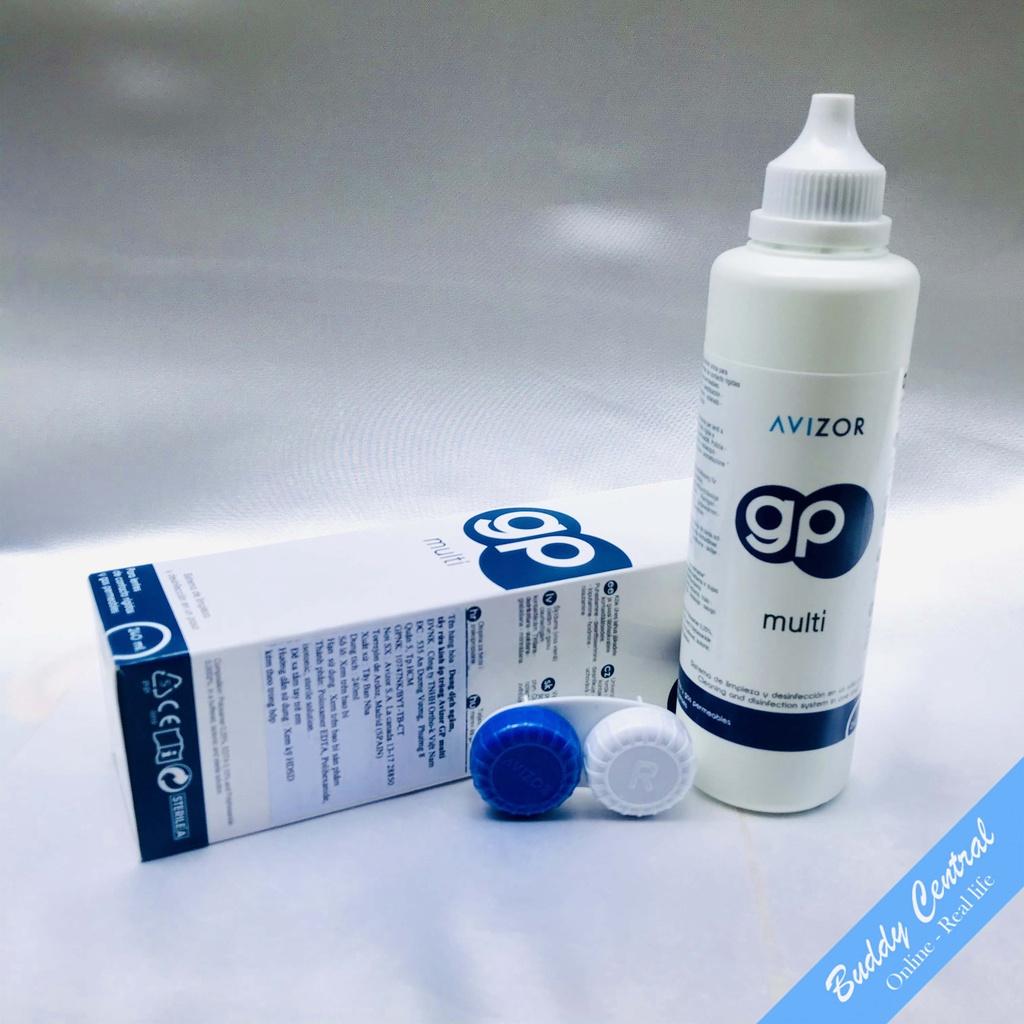 (Tặng 1 quà) Combo 5 Nước ngâm rửa lens kính áp tròng Avizor GP Multi 240ml