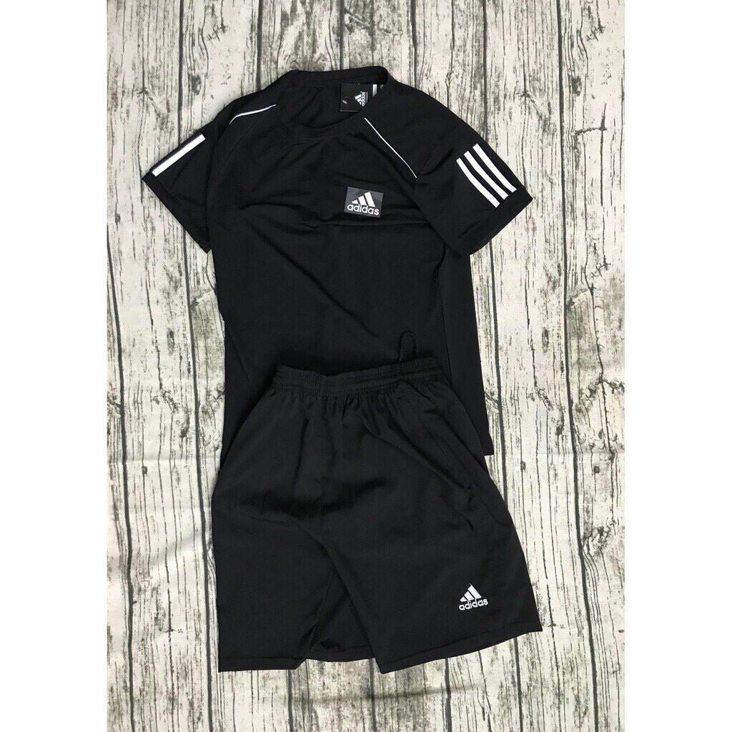 [Sale Offer] Bộ thể thao cao cấp Adidas 3 vạch viền tay
