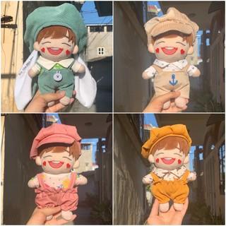 (Ord) Set áo yếm mũ doll 15cm 20cm