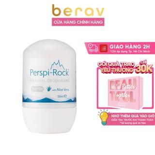 [CÓ CHE TÊN] Lăn Khử Mùi, Ngăn Mồi Hôi PERSPI ROCK chiết xuất Lô Hội Natural Deodorant Roll On 50ml