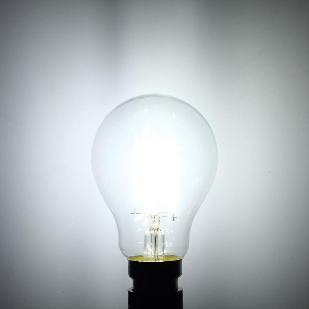 🌻Hot Sale🌻Đèn LED sợi đốt 220V , màu trắng , kiểu dáng cổ điển a60 B22 4W