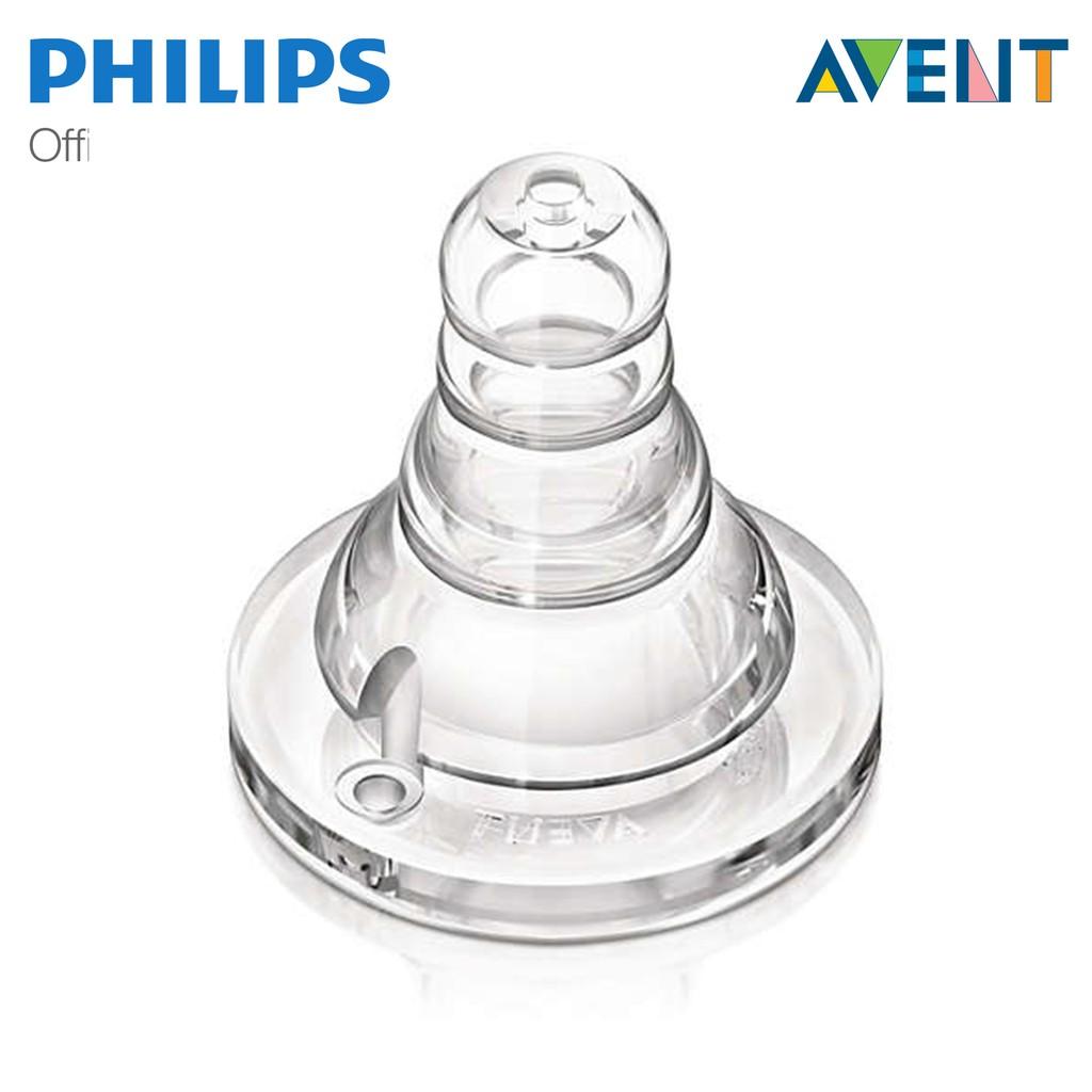 Núm ty bình cổ chuẩn Philips Avent SCF968/21 cho bé từ 0 tháng tuổi (Vỉ đôi)