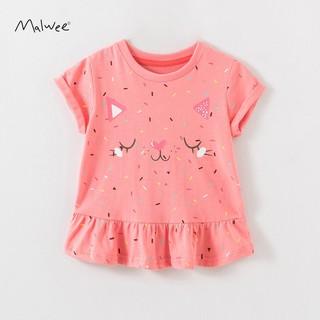 Quần áo trẻ em_Áo thun bé gái Malwee 12-30 kg