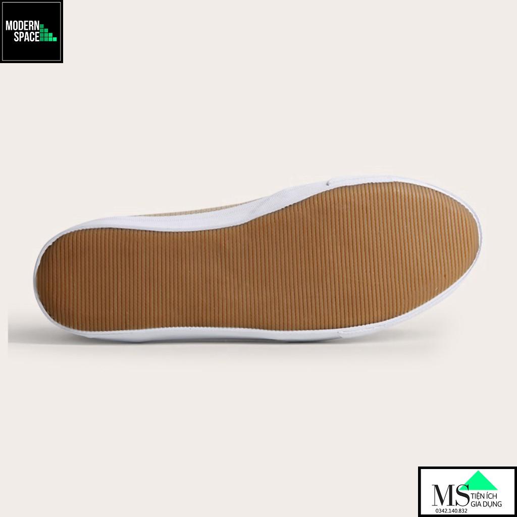 (GIÀY NỮ) Giày Lười Slip-on nữ D&A L1707 Màu be (VNXK) [CHÍNH HÃNG]