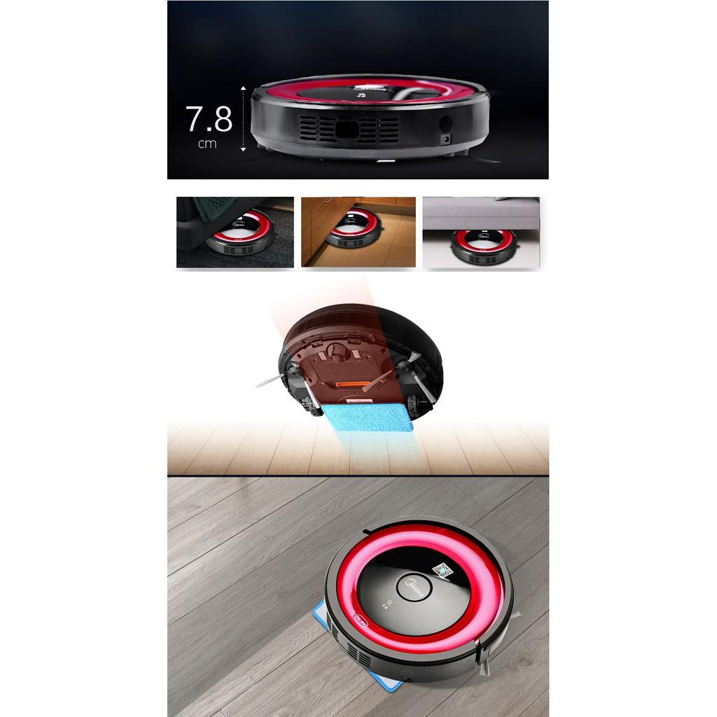 re0483 Robot hút bụi lau nhà Midea có điều khiển - Robot hút bụi Midea R1 -  Máy lau nhà - Máy hút bụi
