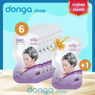 Kem ủ tóc Ellips Tím - Chăm sóc tóc nhuộm bền màu, óng mượt thumbnail