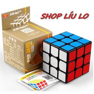 Rubik lập phương 3×3 6cm bo cạnh cực trơn nhẹ dễ xoay hạt rẻ cho bé từ 4 tới 10 tuổi