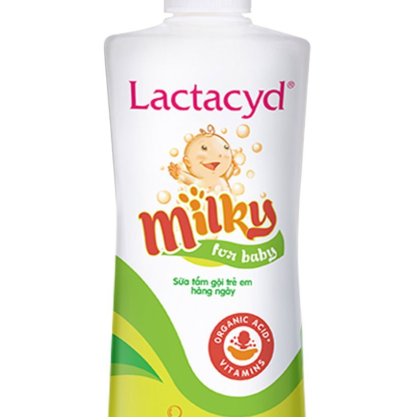 [Mã COSLACTA7 giảm 8% đơn 250k] Bộ 2 chai Sữa Tắm Gội Trẻ Em Lactacyd Milky Bảo Vệ, Nuôi Dưỡng Da và Tóc Bé 500ml/chai