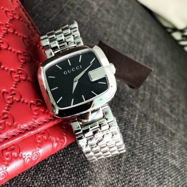 GUCCI G-Gucci Medium Black Dial Stainless Steel Ladies Watch