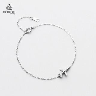 [Mã FASHIONMALLT4 giảm tới 30K đơn 150K] Lắc Tay Bạc Minh Canh Jewelry Hình Máy Bay thumbnail