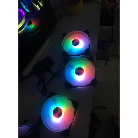 Fan CoolMoon Dualring RGB V3 16 triệu màu kèm 366 Hiệu Ứng Giá chỉ 90.000₫