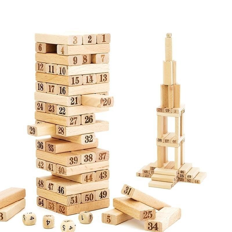 Bộ đồ  chơi rút gỗ 54 chi tiết