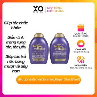 Cặp gội xả Biotin collagen tím 385ml bổ sung biotin và collagen hỗ trợ trị rụng tóc, mọc tóc, giúp tóc phục hồi từ bên thumbnail