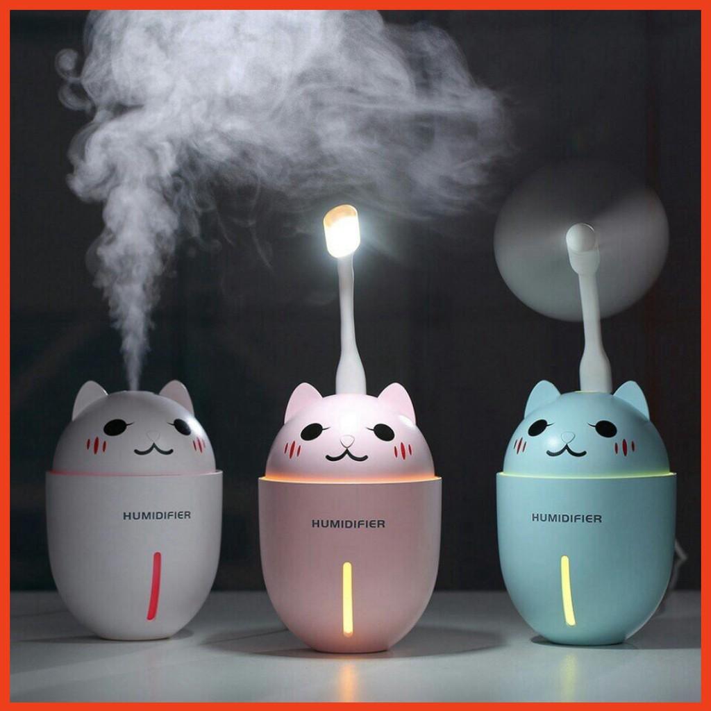 Máy phun sương mèo tạo ẩm mini 3 tác dụng