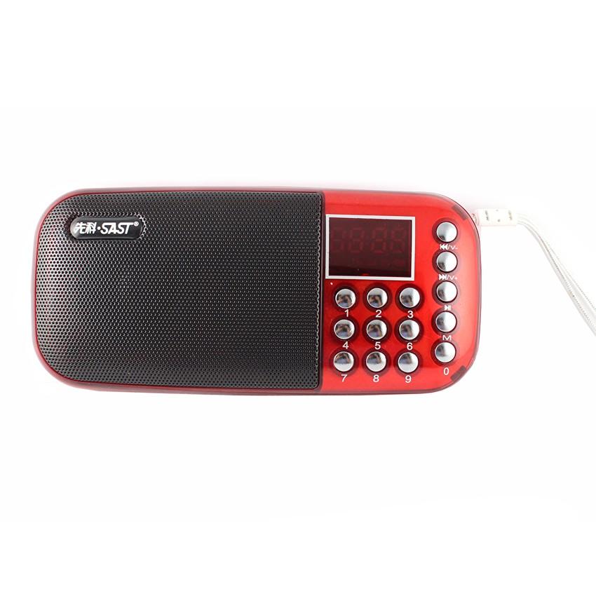 Loa nghe nhạc USB -Thẻ Nhớ- FM SA-911 (Đỏ)
