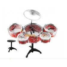 Bộ Trống Jazz Drum cho bé bao gồm: 1 ghế , 1 trống cái, 4 trống nhỏ, 1 cái chập chả và 2 dùi trống