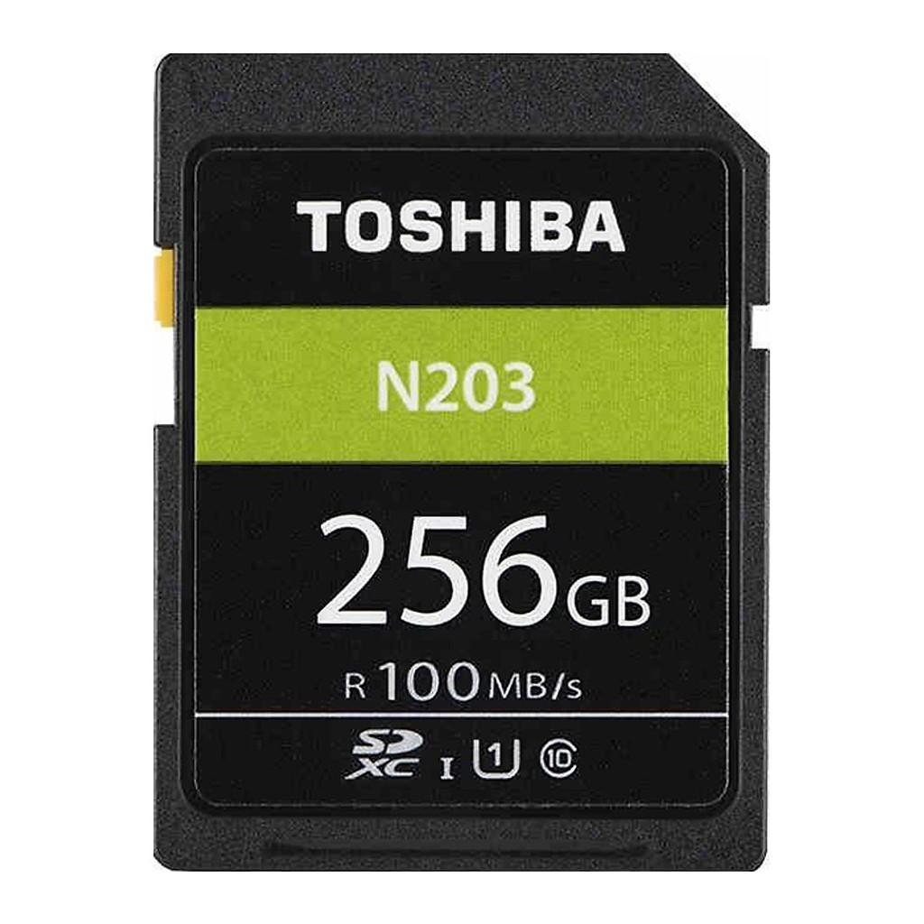 Thẻ Nhớ SDXC Toshiba N203 256GB 100MB/s - Hàng Chính