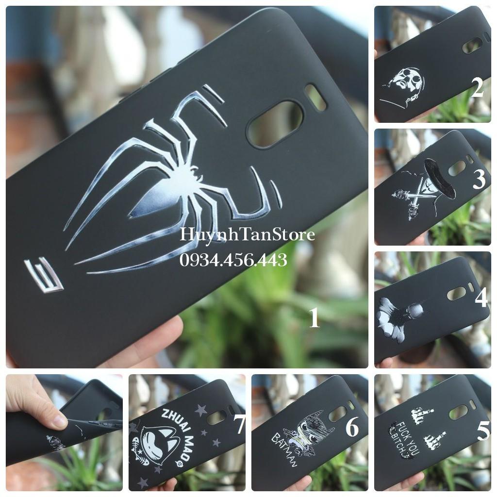 Meizu M6 Note _ Ốp dẻo đen tpu in 3D nổi ( bộ 1)
