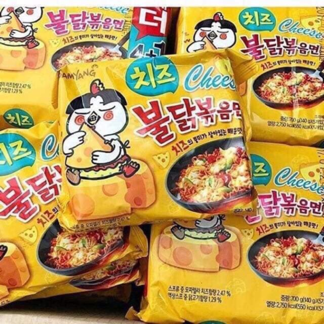 20 gói ( 4 bịch) mỳ cay phomai Samyang. Date 17/07