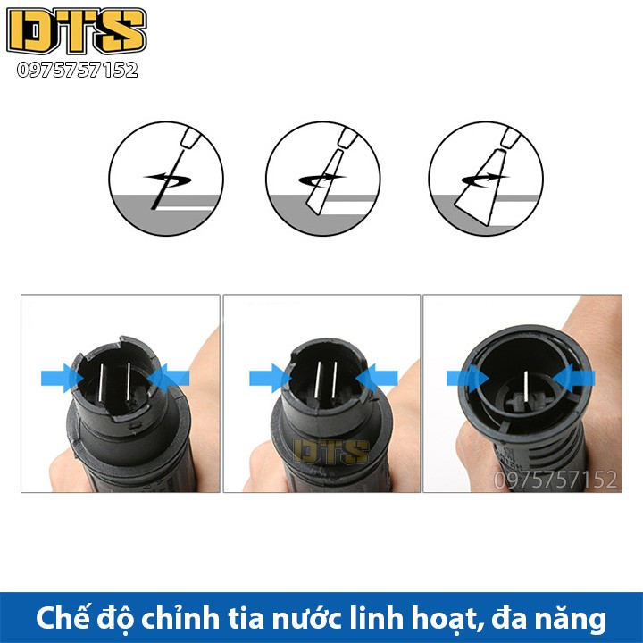 Súng xịt - súng rửa xe áp lực cao DTS2 mini Ren ngoài 14mm_Đầu tròn