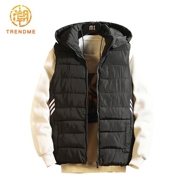áo phao khoác chất cotton màu trơn thiết kế đơn giản