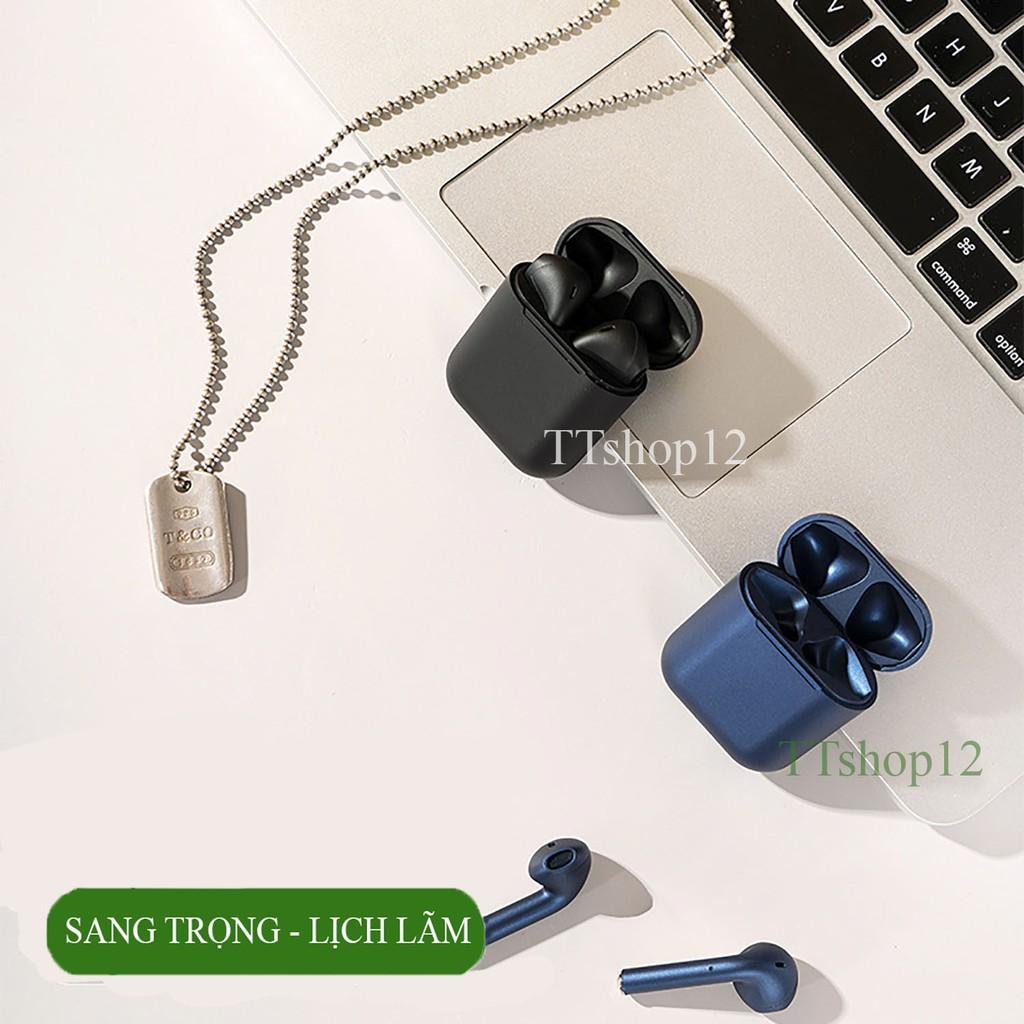 Tai nghe bluetooth InPods 12 chính hãng âm Superbass chống nước IPX4 cảm biến vân tay 1 chạm nghe nhạc siêu hay