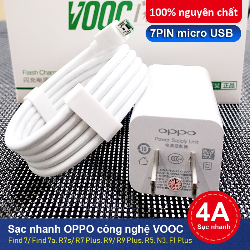 Sạc nhanh oppo bộ sạc nhanh VOOC 4A 30W sạc siêu nhanh bảo hành 6 tháng OPPO AK779 cốc sạc nhanh