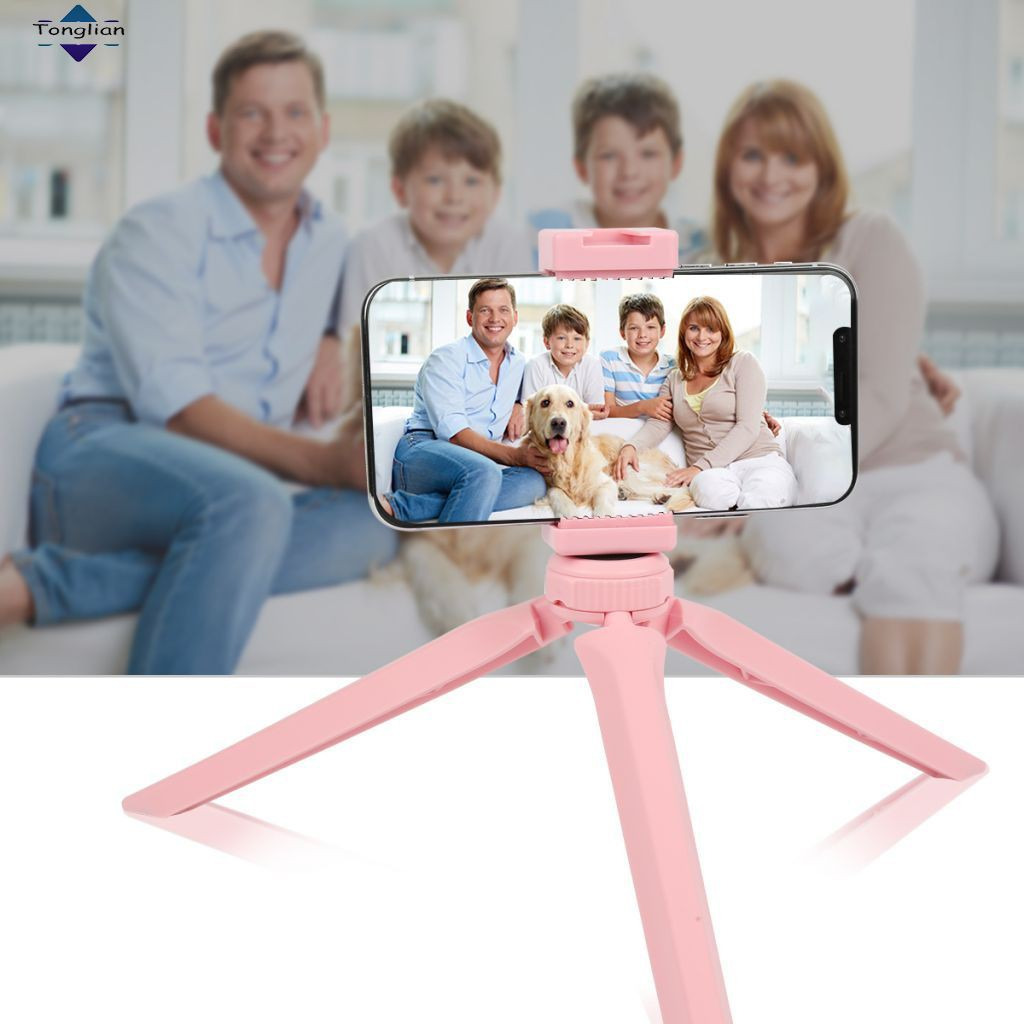 Hot selling Pocket Mini Plastic Tripod Mount with Phone Clamp for Smartphones(pink) [Tonglian]