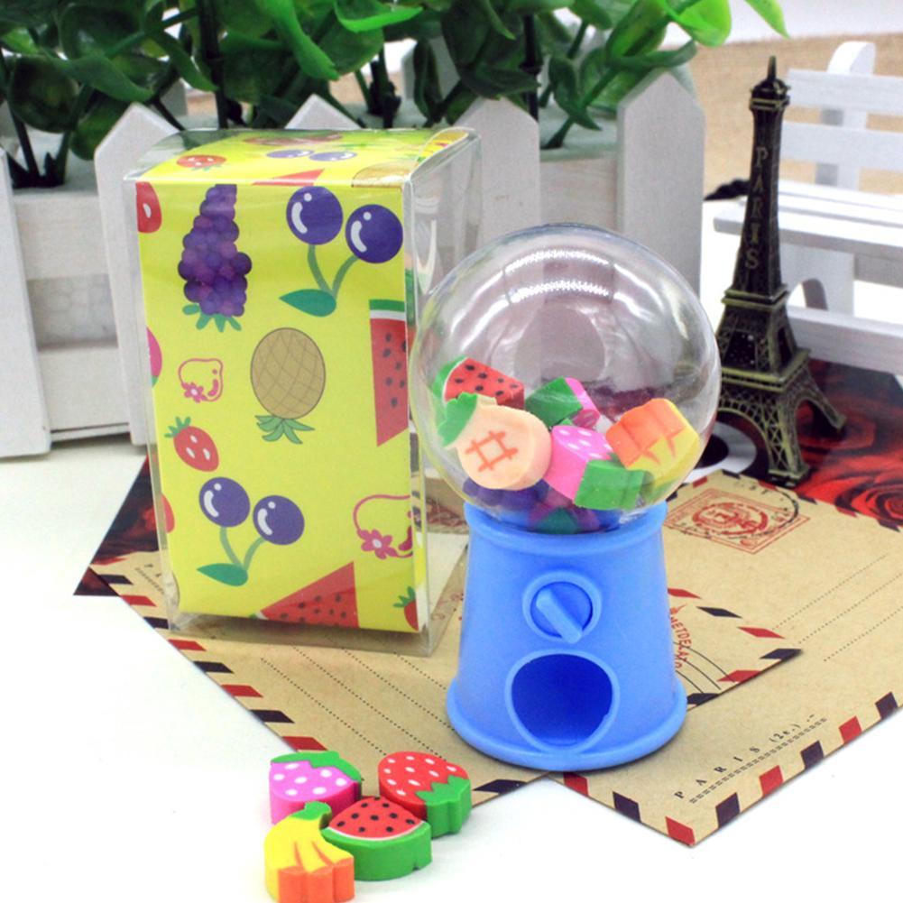 Candy Storage Box Children Toy Creative Cute Mini Fruit Eraser Bubble Gumball Dispenser Kids Birthday Gift #01