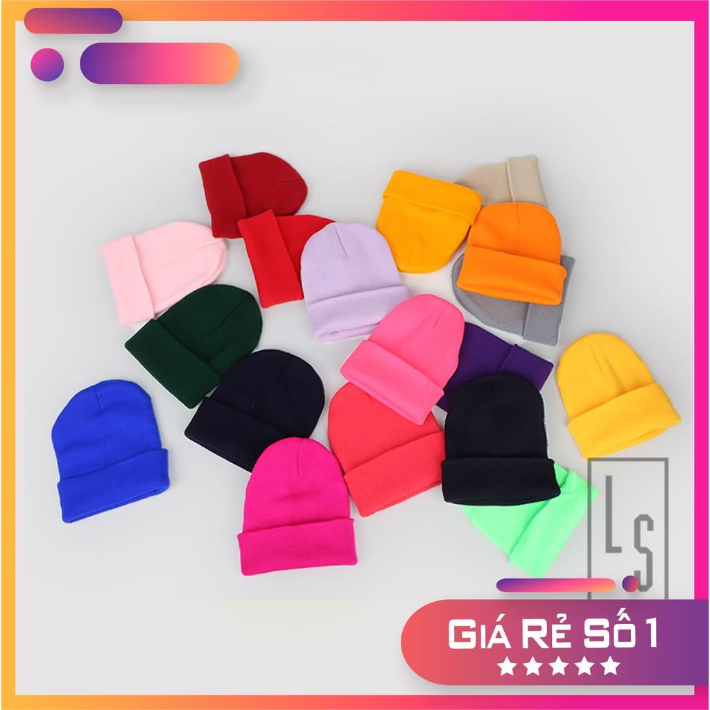 Mũ nón len trơn hàn quốc nhiều màu - Rẻ vô địch