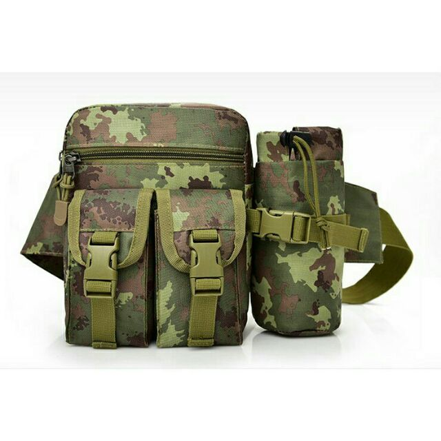 Túi bao tử, túi đeo hông kèm túi đựng bình nước đi phược