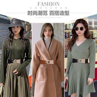 Áo khoác Thắt lưng nữ rộng phụ kiện Áo len đàn hồi trang trí với váy đầm thắt lưng cao cấp khóa