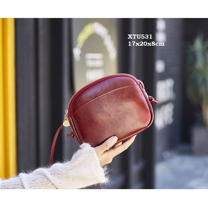 XTU531 Túi đeo chéo da Pu