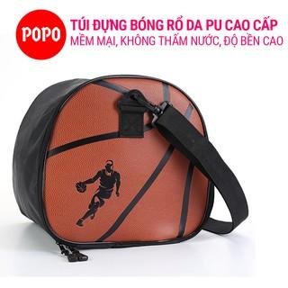 Túi đựng bóng rổ 1146 chất liệu da PU có khóa kéo chống nước, ngăn nhỏ đựng phụ kiện chất liệu cao cấp POPO Collection thumbnail