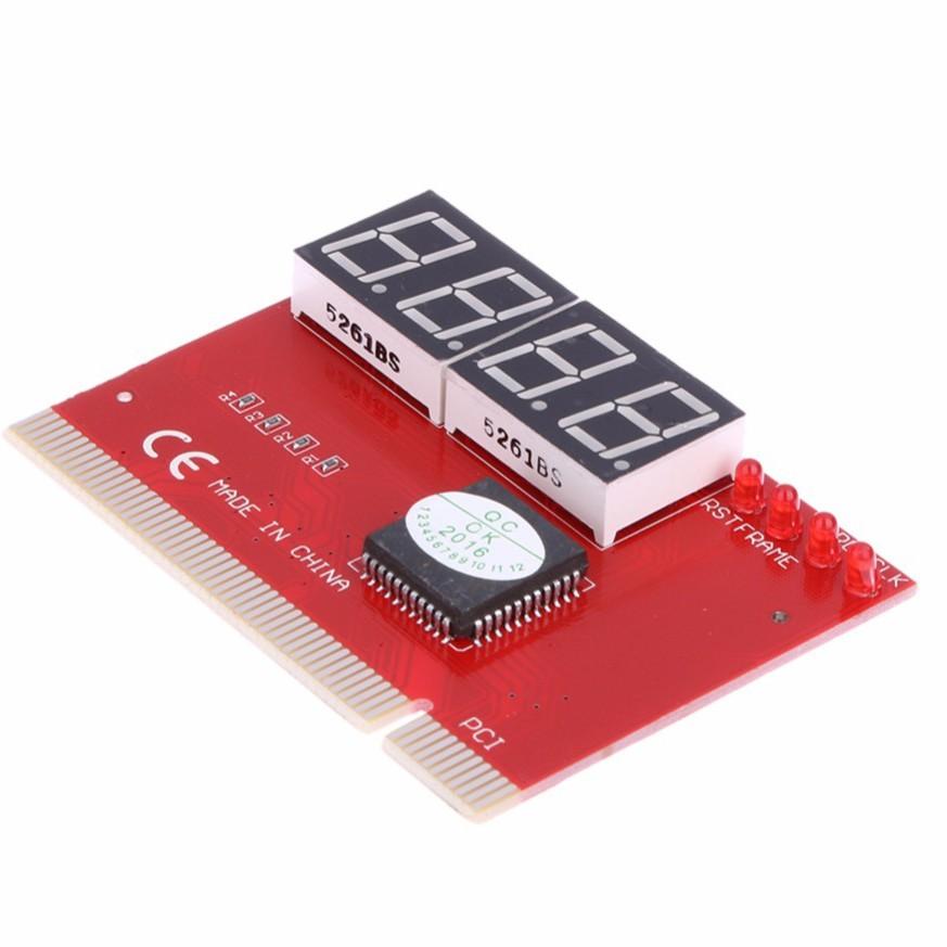 Card test Mainboard 4 số dùng cho main có khe cắm PCI (Đỏ) -DC1016