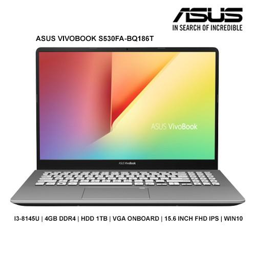 Laptop Asus Vivobook S15 S530FA-BQ186T (Gun) | i3-8145U | 4GB...
