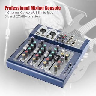 Tsm★Professional Metal 4 Channel Live Mixer Mixing Console 3-Band EQ USB Functio