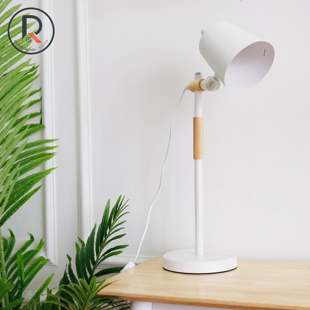 ĐÈN ĐỂ BÀN MÀU TRẮNG - A CHIN LAMP WHITE - NỘI THẤT KIỂU HÀN - 가장자리